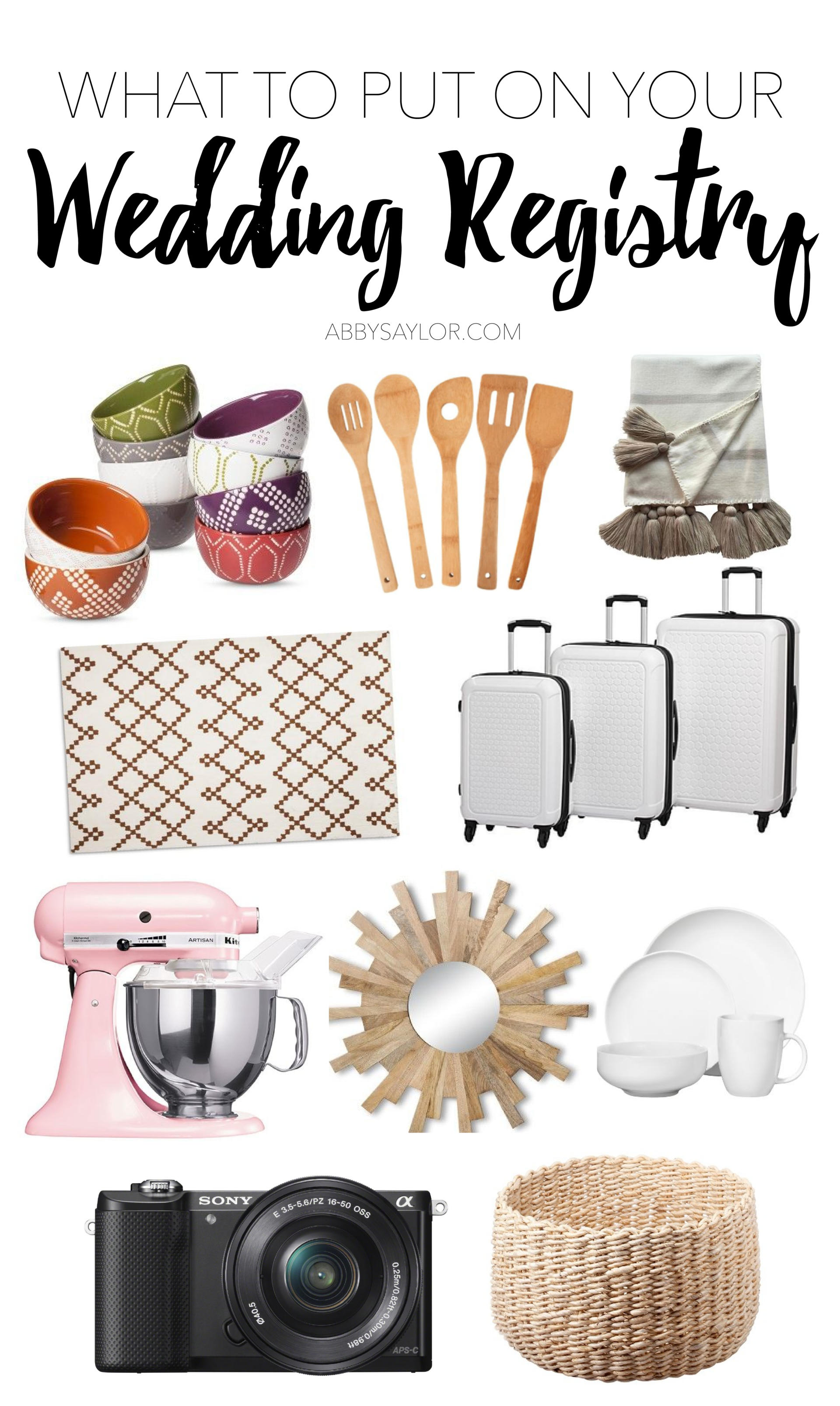 what to put on your wedding registry abby saylor armbruster
