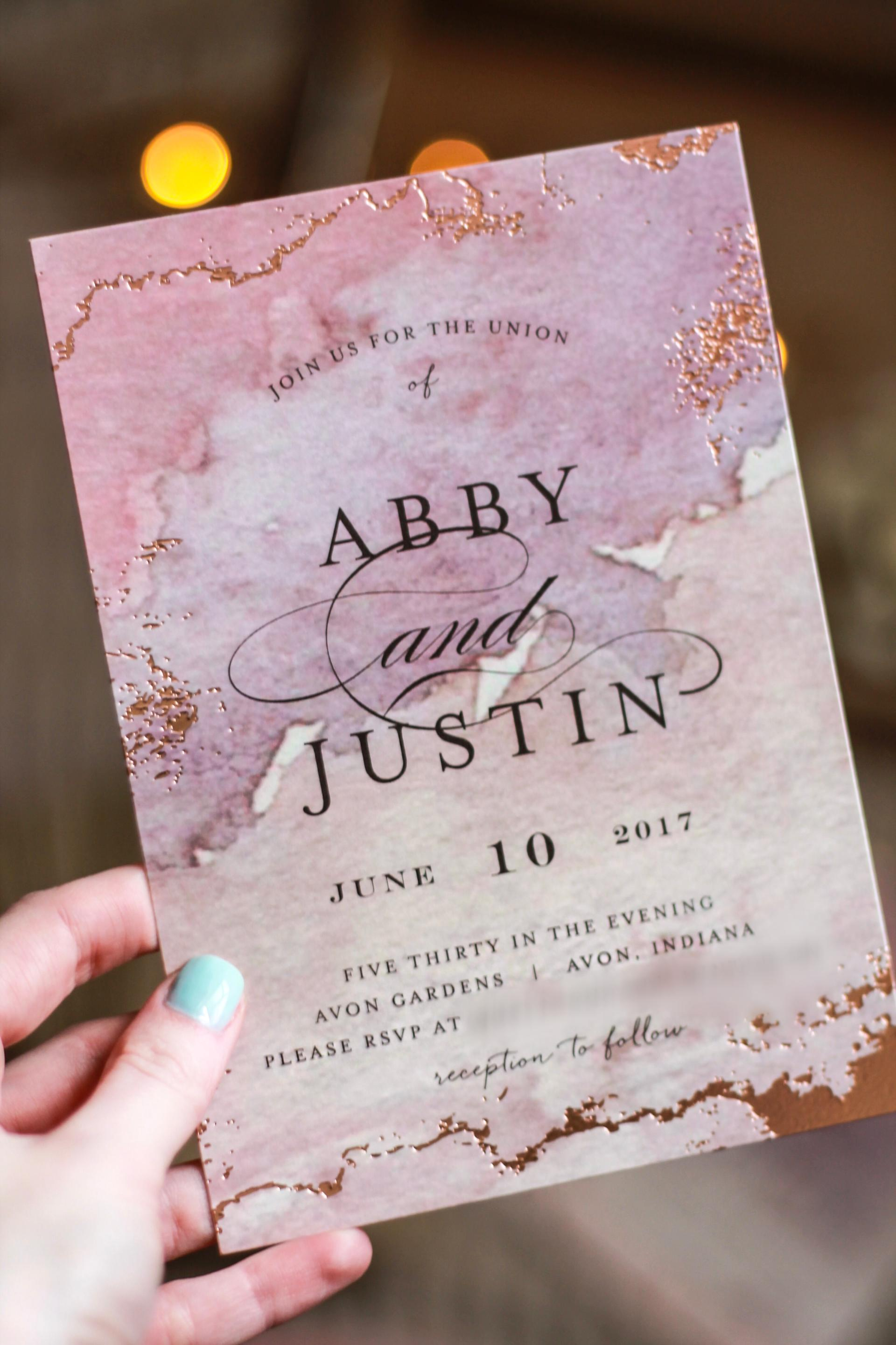 Details Our Wedding Invitations Minted Review Abby Saylor