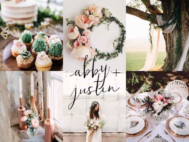 Abby + Justin: Garden Wedding Inspiration Board