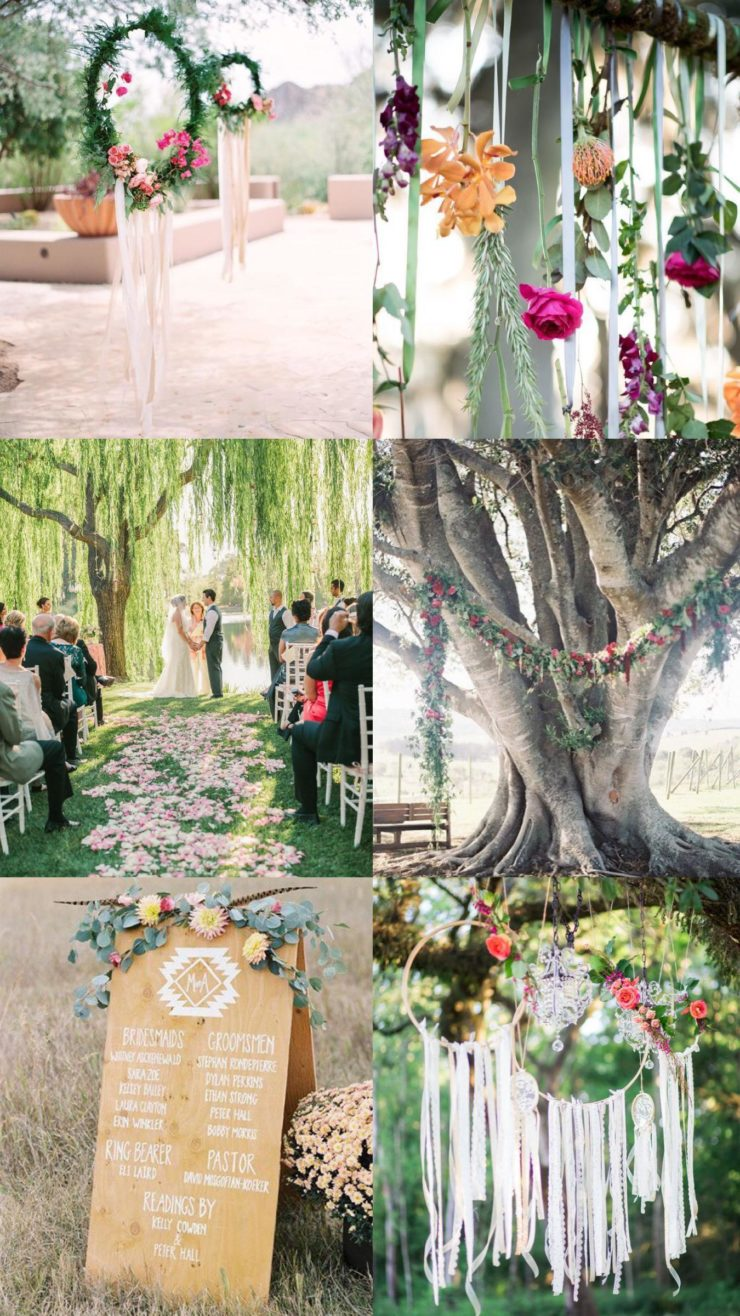 boho wedding ceremony