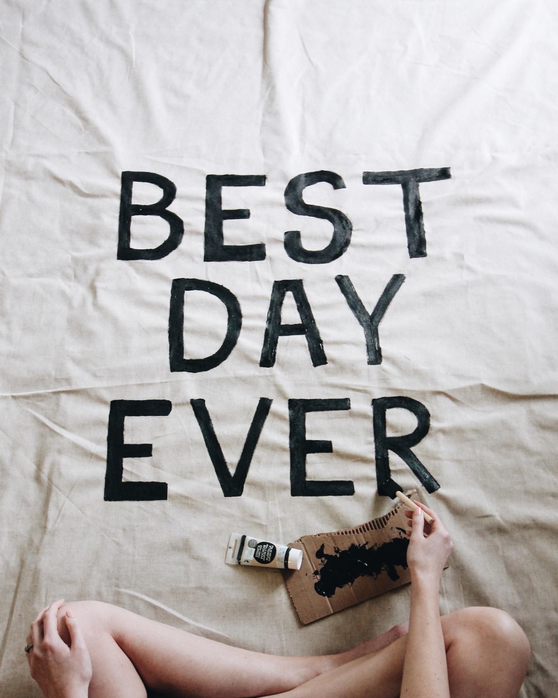 "Best Time Of Day For Wedding: DIY ""Best Day Ever"" Wedding Tapestry"