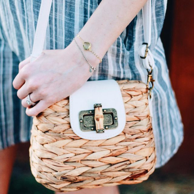 Who else is loving the wovenbasketesque bags trend right now?!hellip