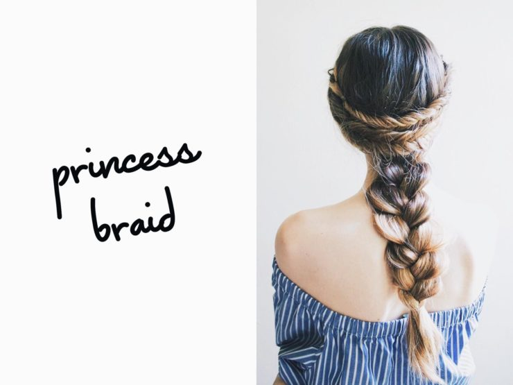 princess braided hairstyle