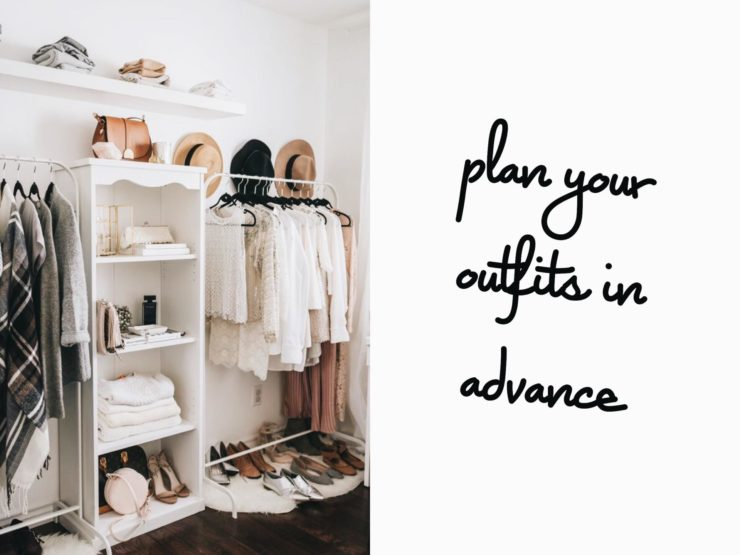 outfit planning, closet organization