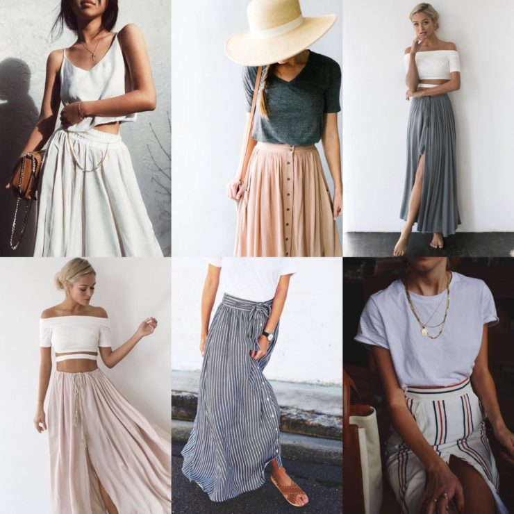 summer fashion maxi skirts