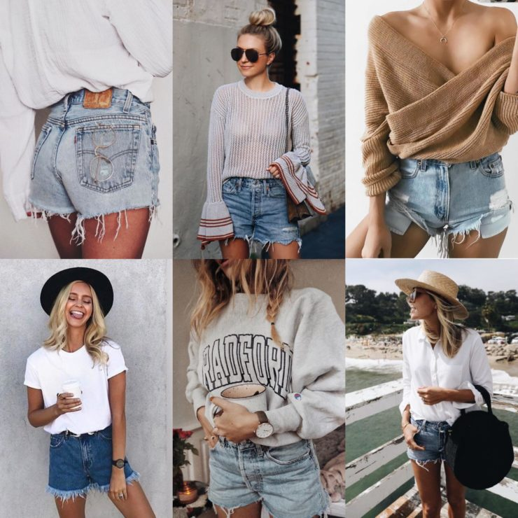 summer fashion cut off denim shorts
