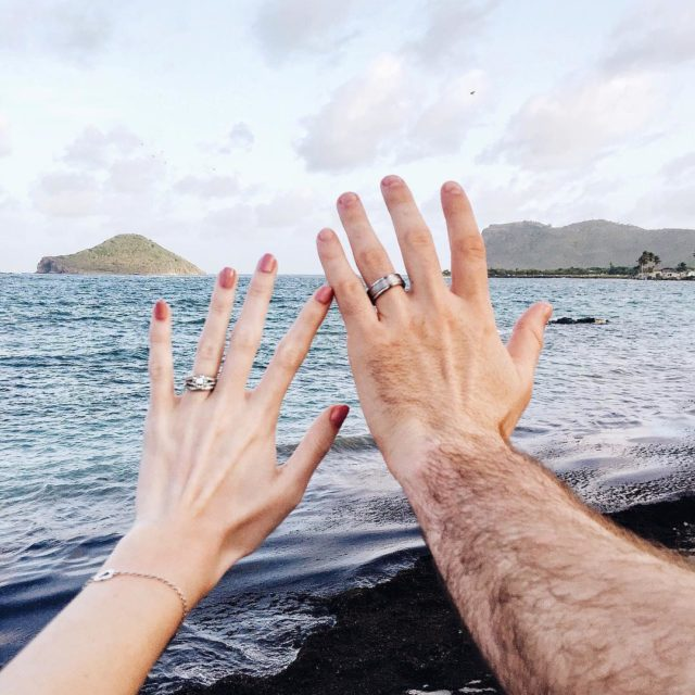 The newlyweds are waving goodbye to sunny St Lucia todayhellip
