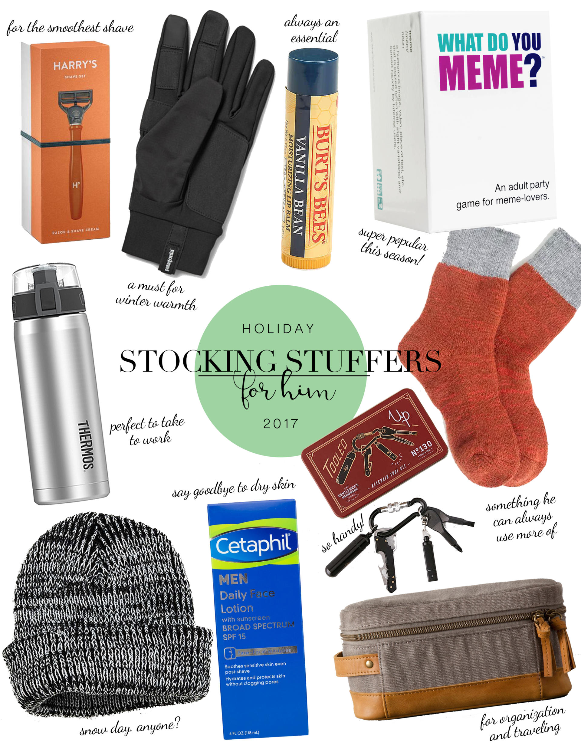 stocking stuffers for him 2017 abby saylor armbruster