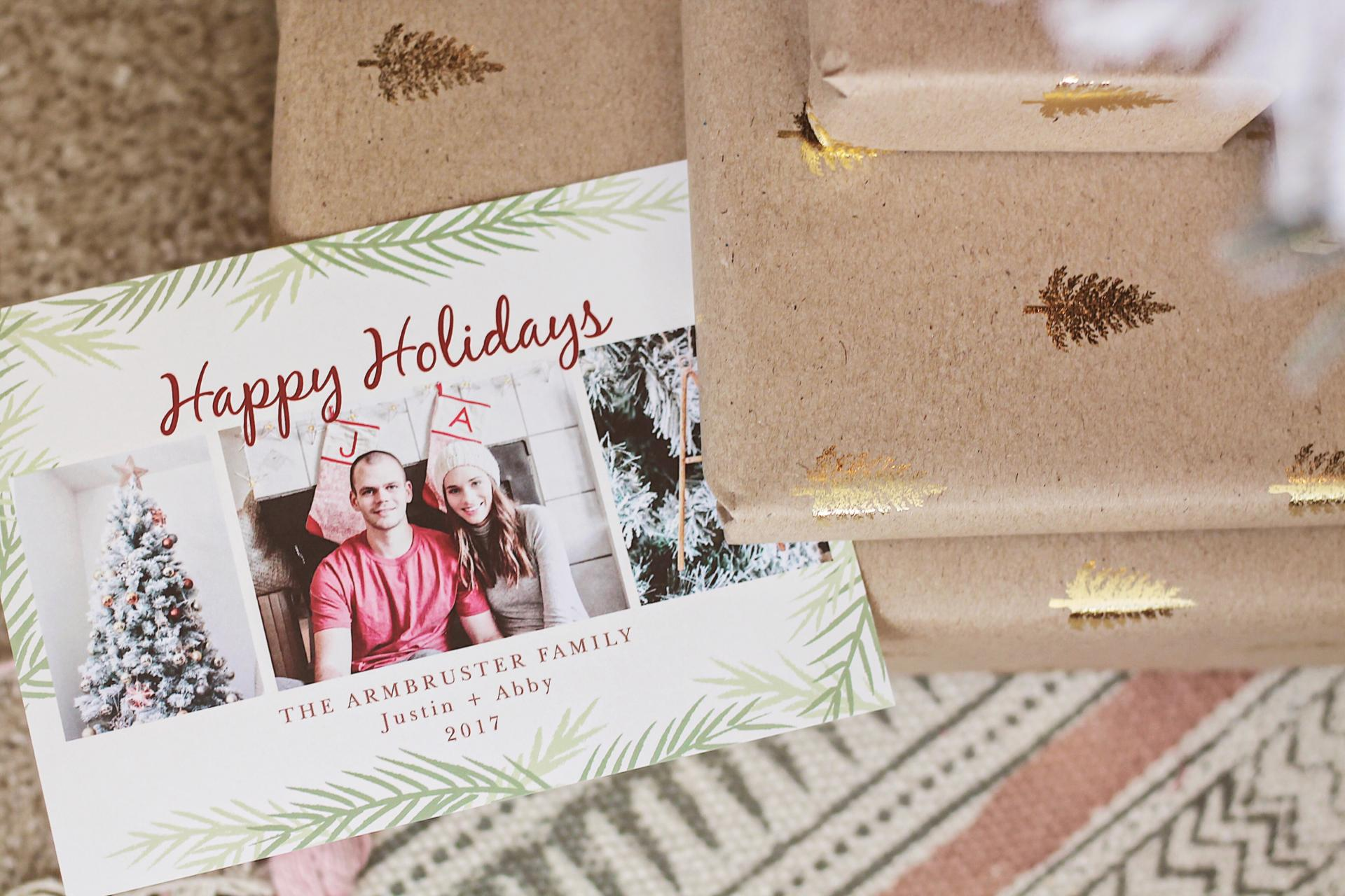 At Home with the Armbrusters: Our First Christmas Card with Basic Invite